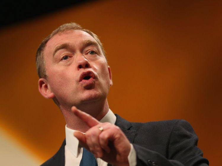 Lib Dems leader Tim Farron said Theresa May was a divisive figure