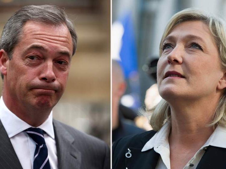 Marine Le Pen claims Nigel Farage slandered her Front National party