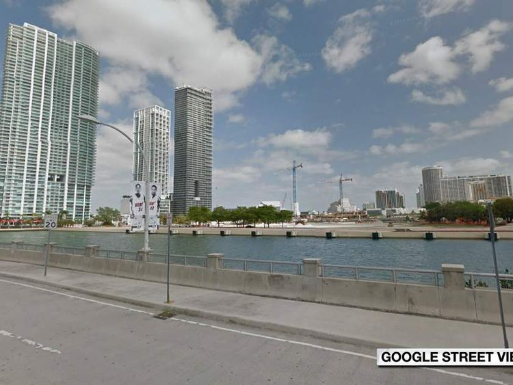 The site of the proposed stadium in downtown Miami, called the FEC Slip