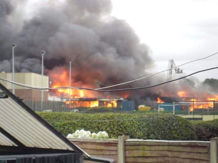 School blaze