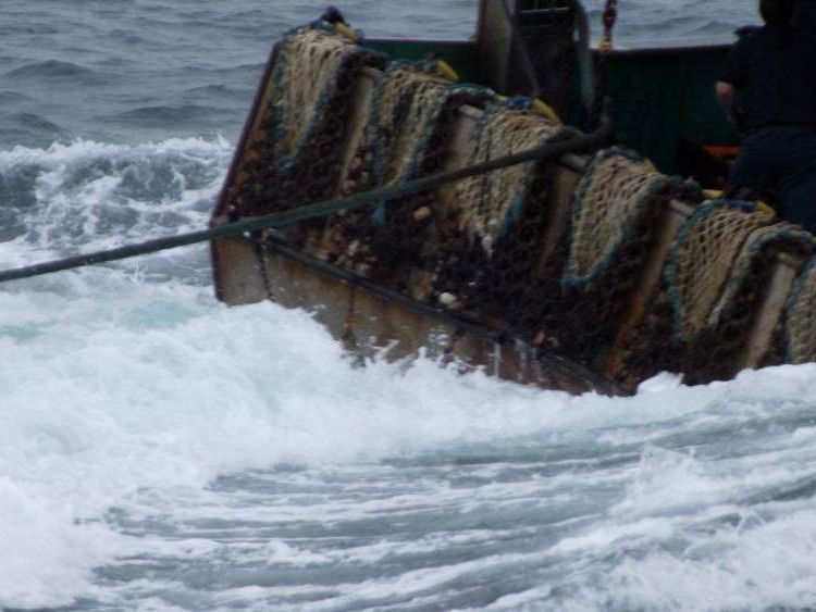 The stand-off in choppy waters lasted for several hours until the French Navy intervened.