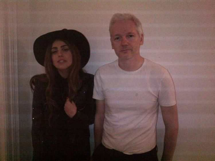 Lady Gaga visited Julian Assange at the Ecuadorian Embassy in London