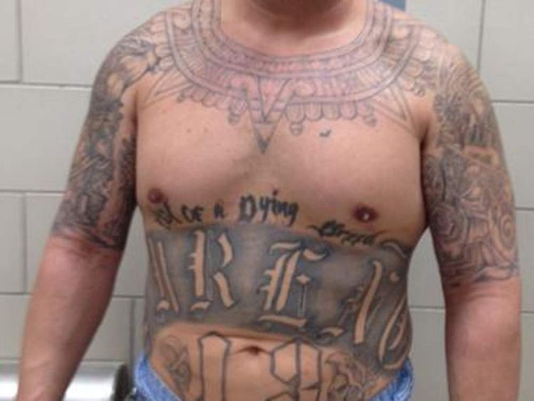 Pic: Stock image of gang member - US Immigration and Customs Enforcement (ICE)