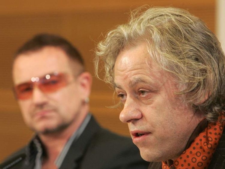 Bono (L) and Bob Geldof