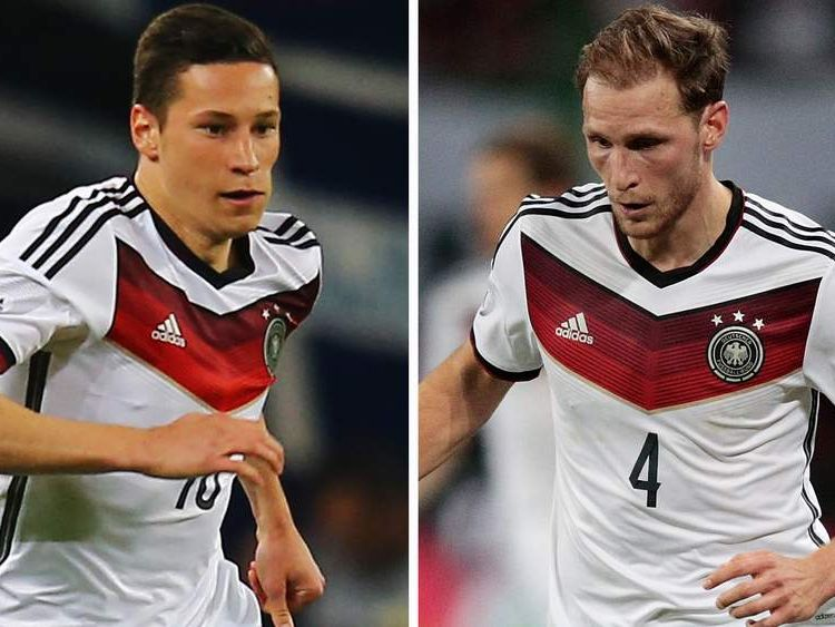 Benedikt Hoewedes and Julian Draxler.