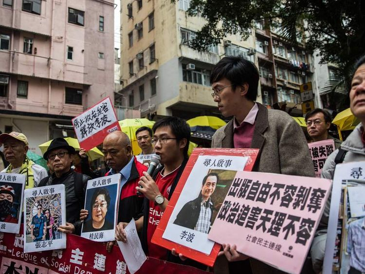 China accused of kidnappings over Xi Jingping book.