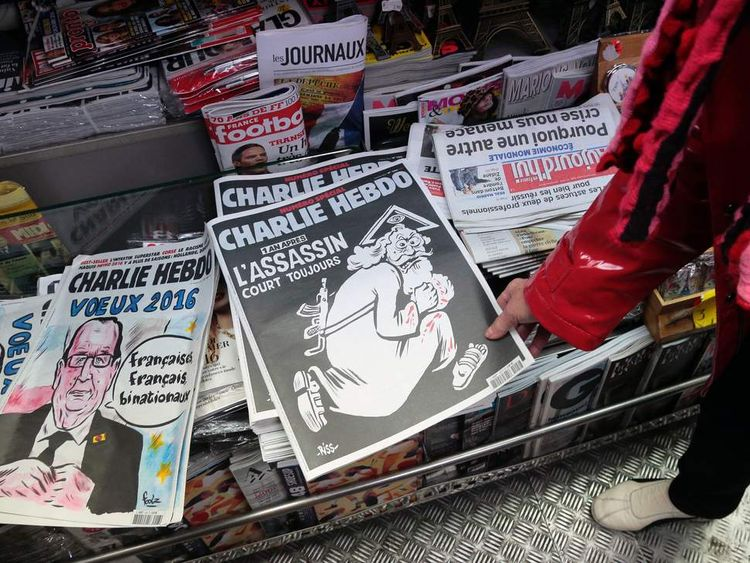 FRANCE-ATTACKS-MEDIA-CHARLIE-HEBDO-ANNIVERSARY