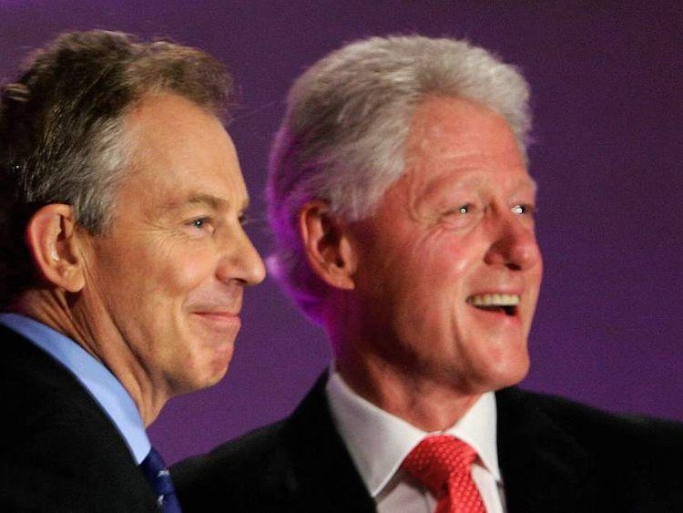 Tony Blair and Bill Clinton.