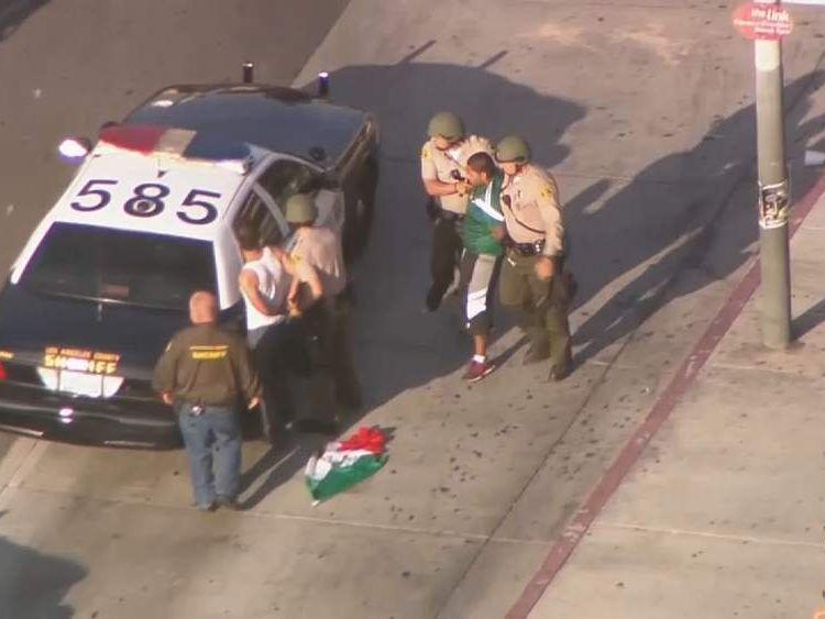 Rowdy Mexican fans arrested near LA