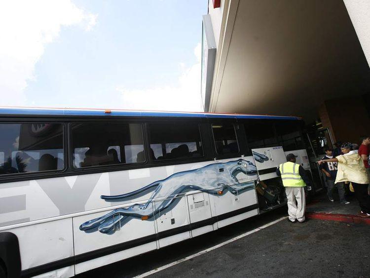 A greyhound bus