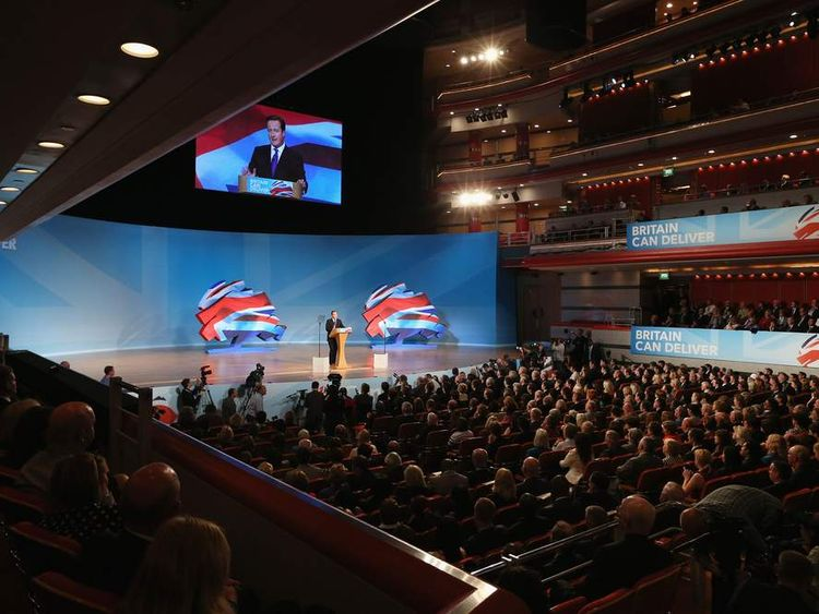 Conference hall Cameron speech