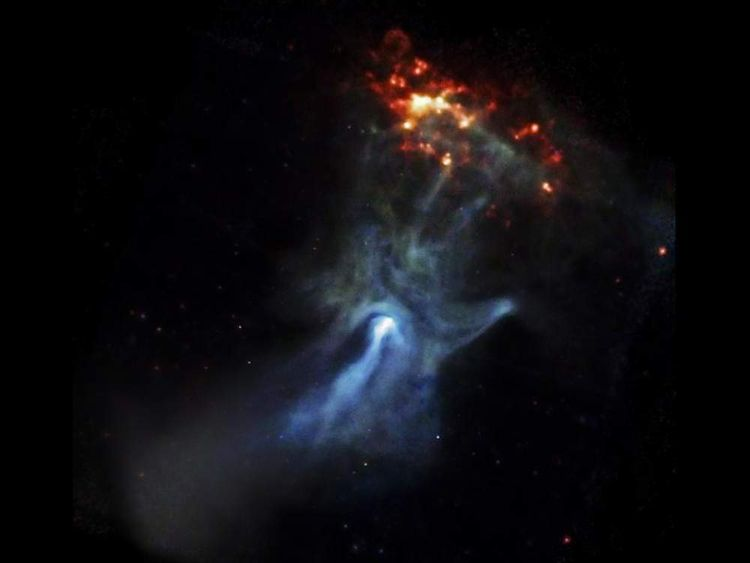 The original image of the Hand of God taken by the Chandra telescope
