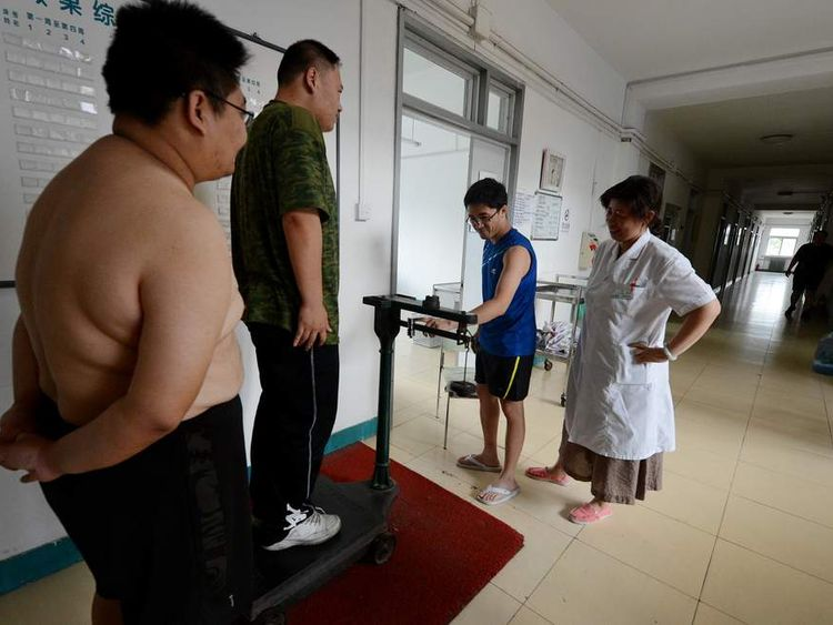 Overweight peopleat a clinic in China