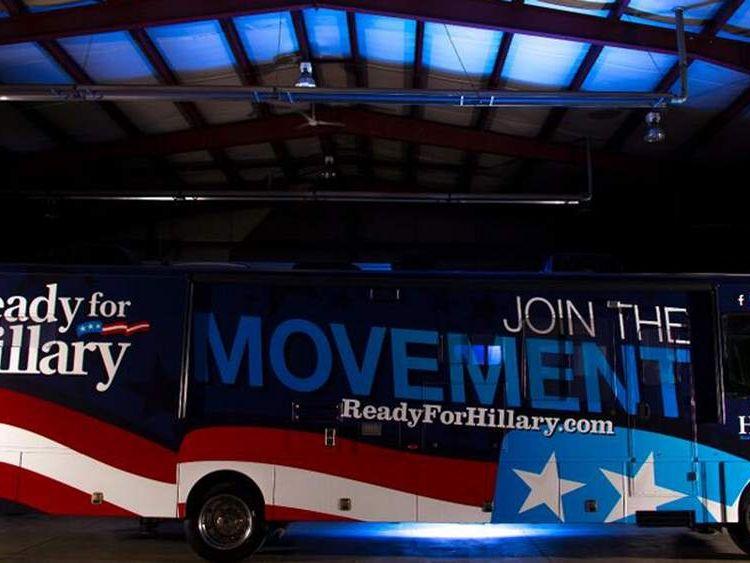 060614 $$ Ready For Hillary Super Pac Bus Hillary Clinton