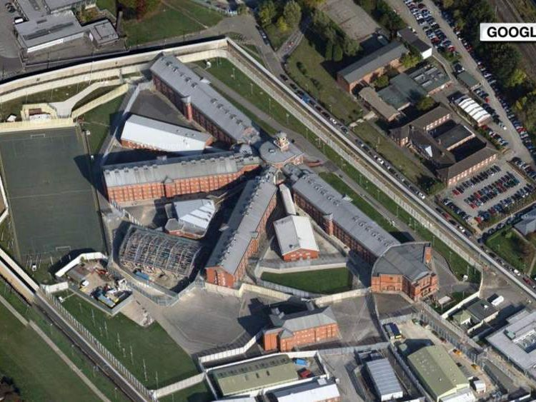 A Google Maps aerial image of HMP Wakefield, West Yorkshire