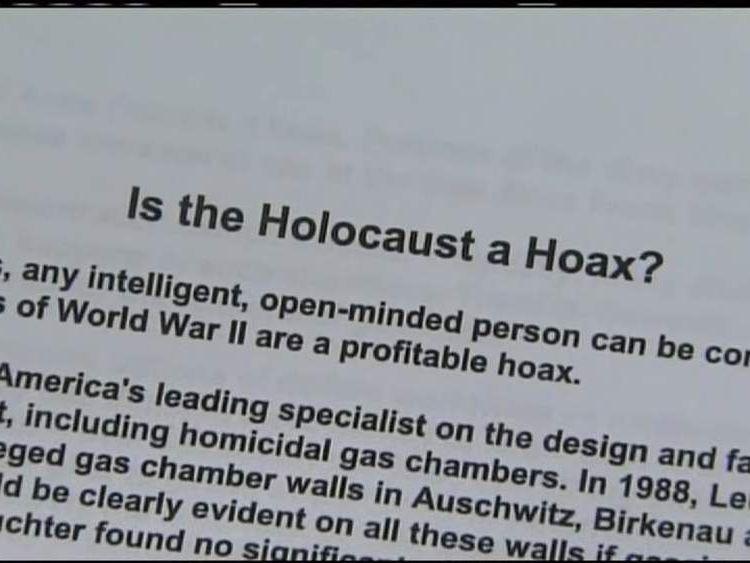 Holocaust school assignment row