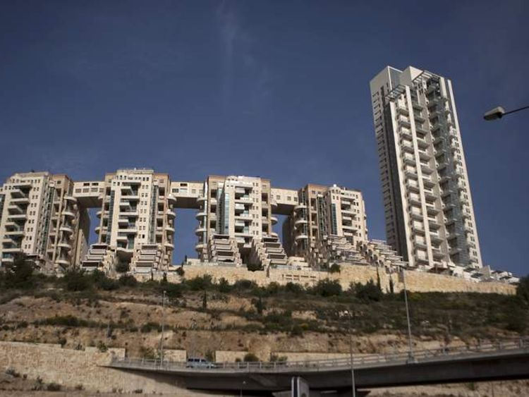 General view of the Holyland luxury apartment complex in Jerusalem