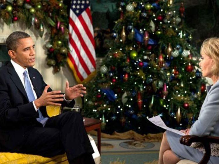 Obama and Barbara Walters