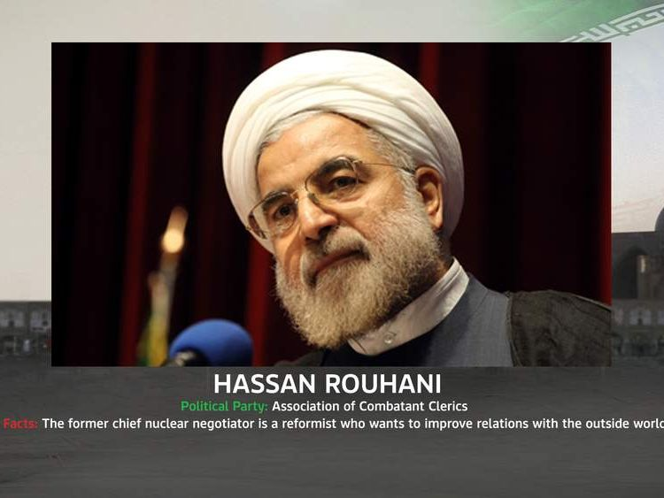 Iran presidential candidate Hussan Rouhani.