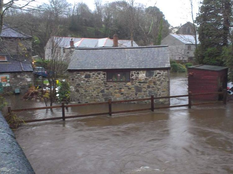 Another flooded garden in Helston