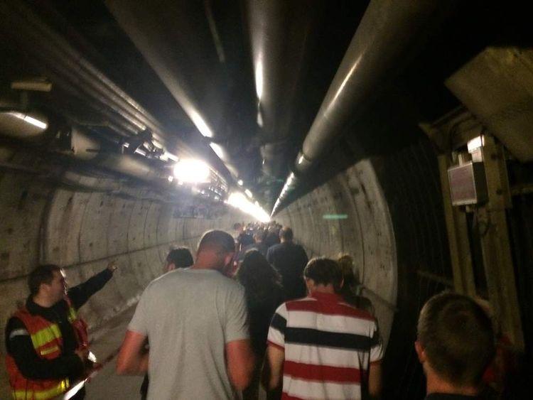 Eurotunnel passenger train breaks down in Channel Tunnel