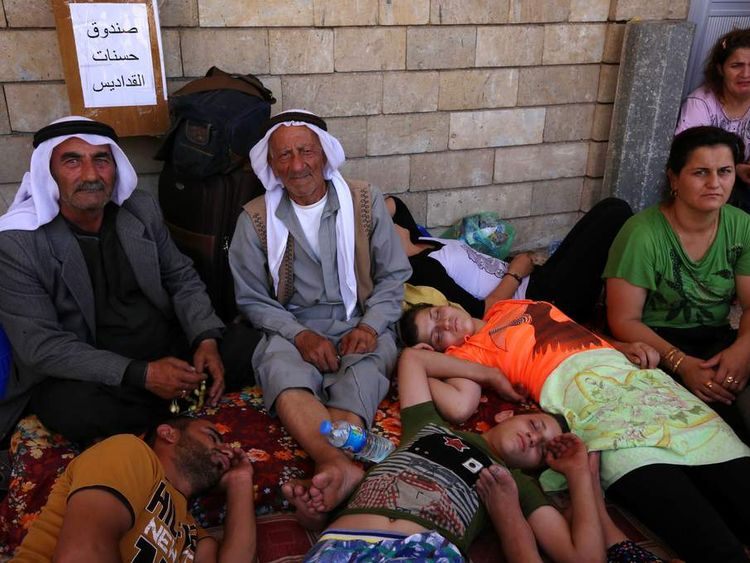 Christian refugees who have fled to Irbil