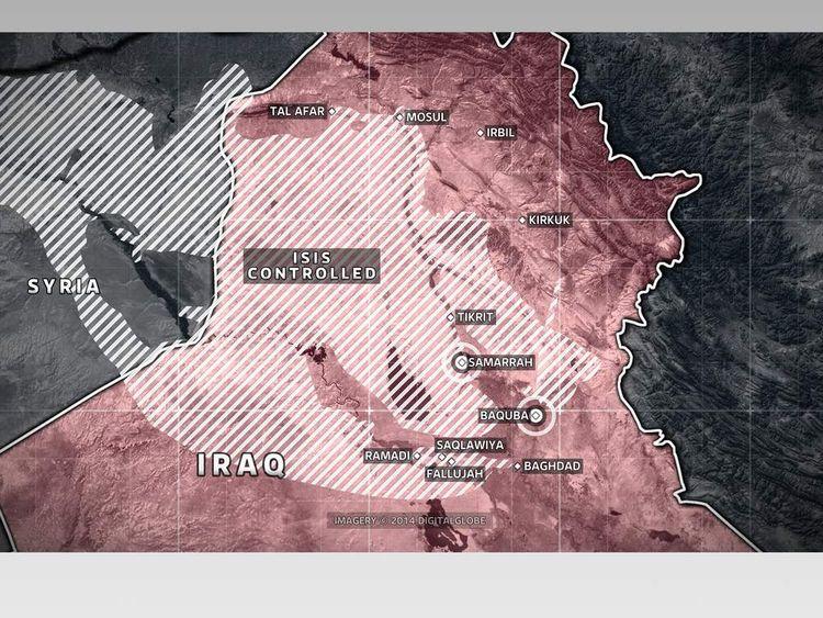 Areas under ISIS control