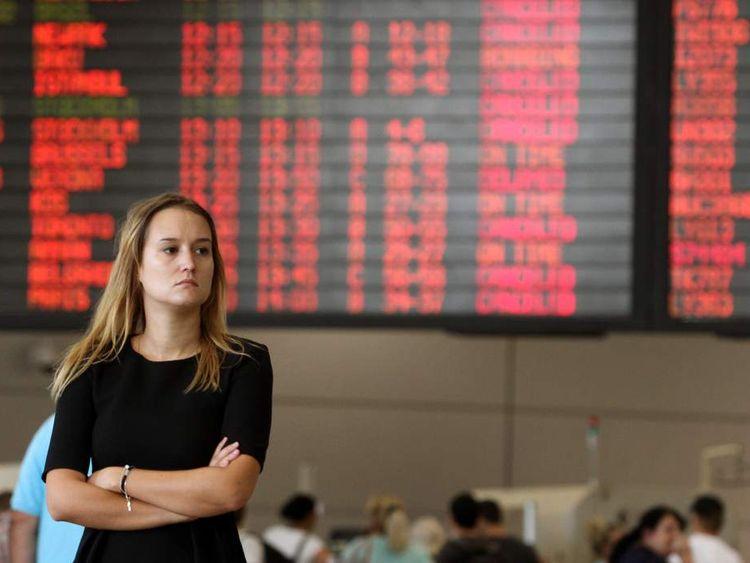 A traveller at Ben Gurion Airport