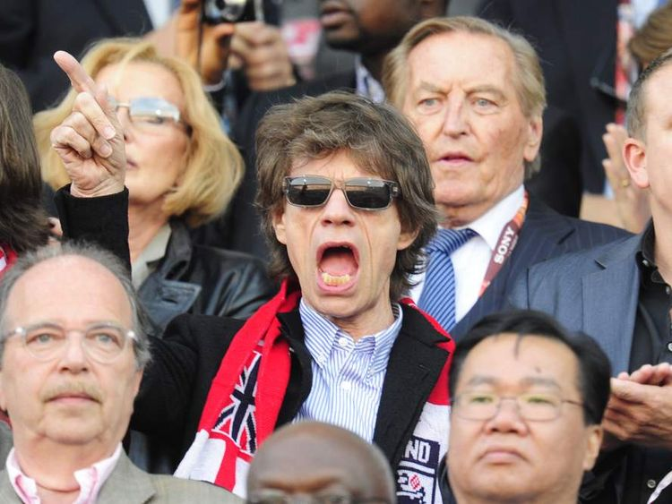 English musician Mick Jagger