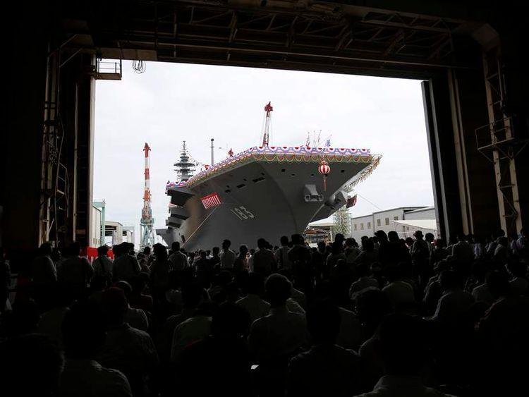 Japanlaunches helicopter destroyer Izumo