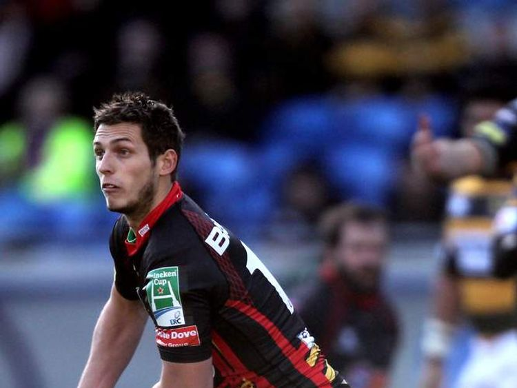 Jason Tovey in action with the Cardiff Blues