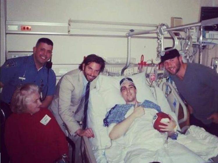 Boston bomb victim Jeff Bauman in hospital
