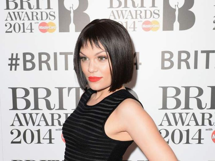 Jessie J attends the BRIT awards nominations at ITV Studios on January 9, 2014 in London