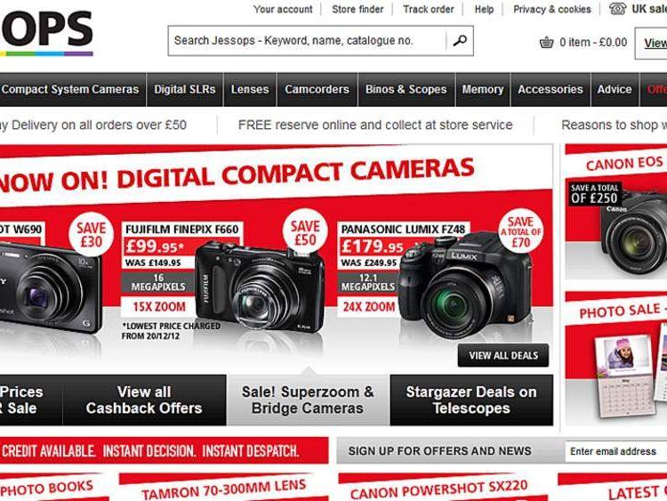 The Jessops website on January 9