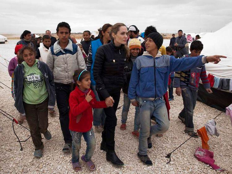 UNHCR Special Envoy Angelina Jolie Visits The Zaatari Refugee Camp In Jordan