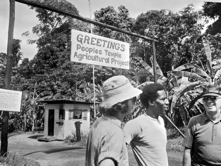 Picture taken in 1978 of cult members in Jonestown, Guyana