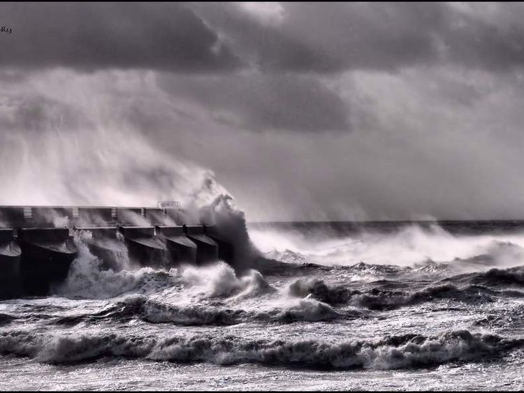 Brighton marina storm