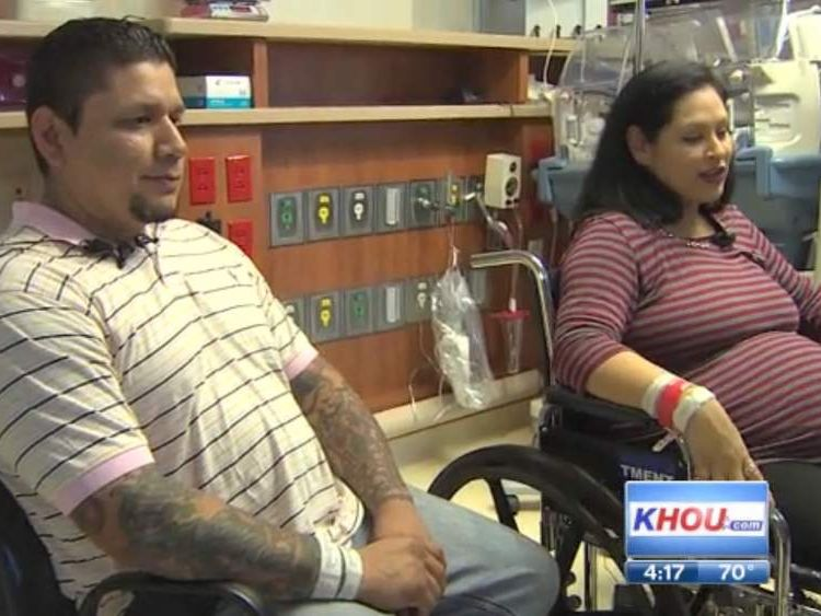 Tressa and Manuel Montalves have had two sets of twins. Courtesy of KHOU.com