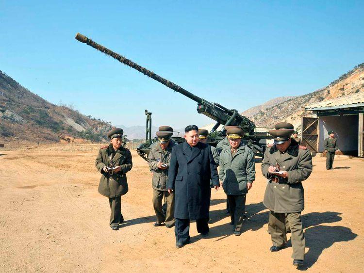 North Korean leader Kim Jong-Un military visit