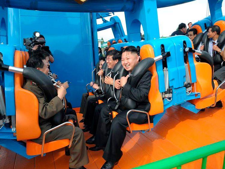North Korea leader Kim Jong-Un on a rollercoaster ride