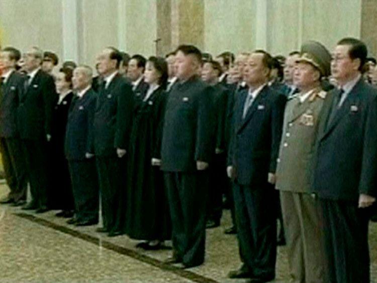 Ri Sul-joo next to her husband Kim Jong-un