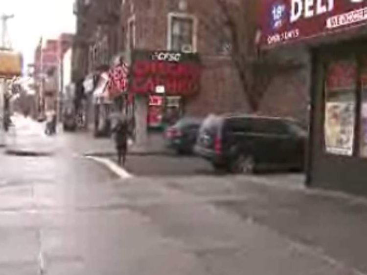 The man was allegedly attacked near this street corner in Brooklyn. Pic: WCBS-TV