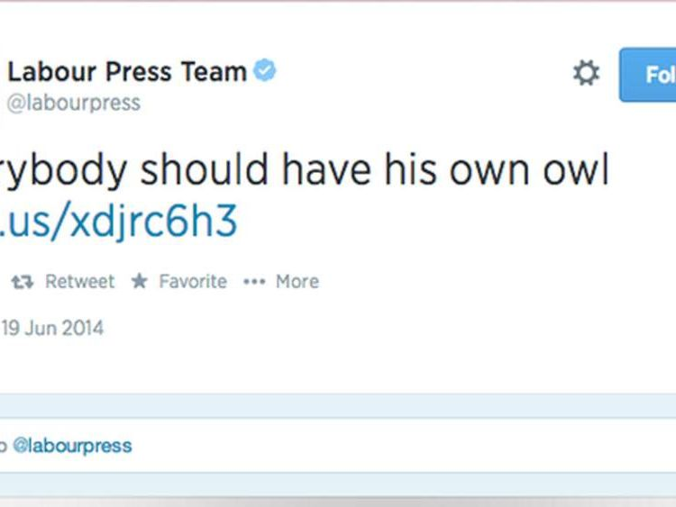 Labour Press tweet