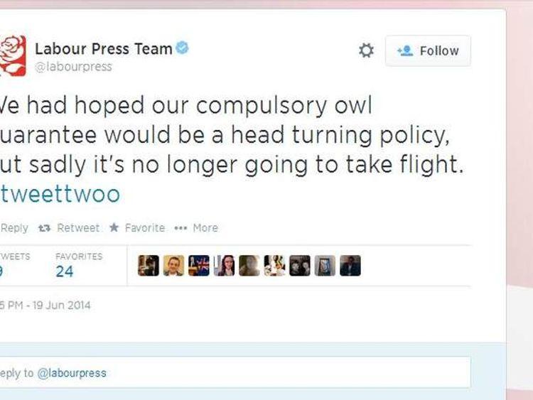 Labour Press Team tweet