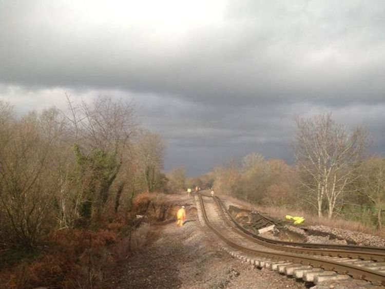 Landslip at Botley in Hampshire