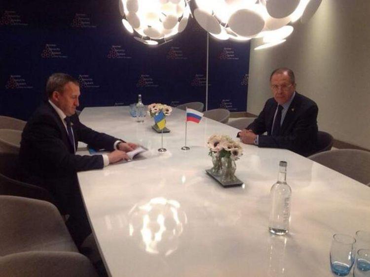 Sergei Lavrov meets Andriy Deschchytsya