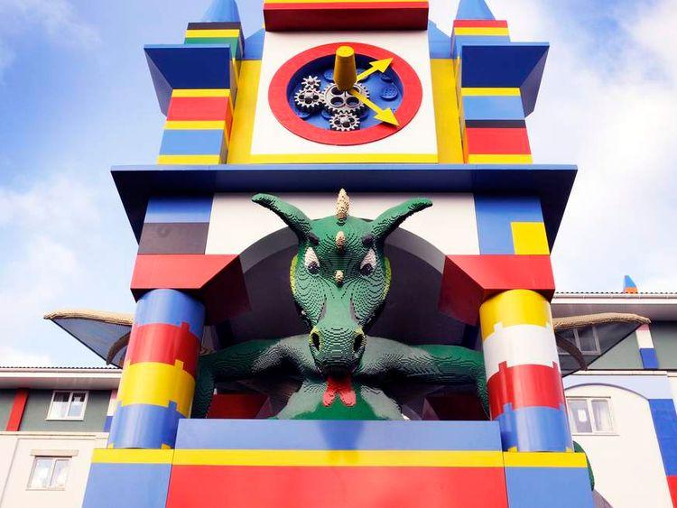 Dragon guards Legoland Windsor hotel