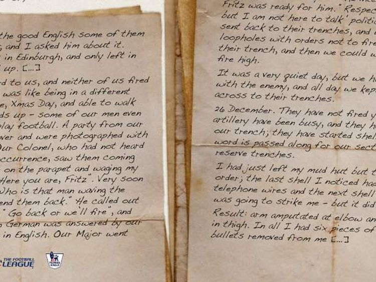 A letter from a soldier writing home