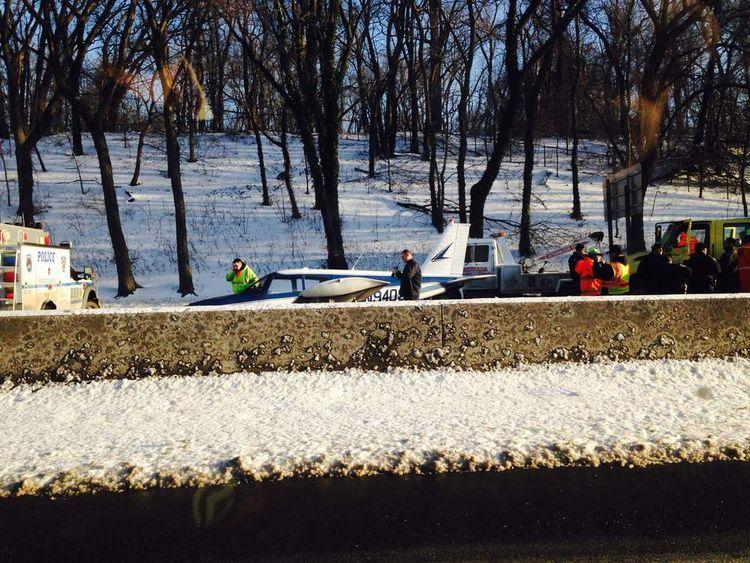 Light aircraft makes emergency landing on Bronx highway
