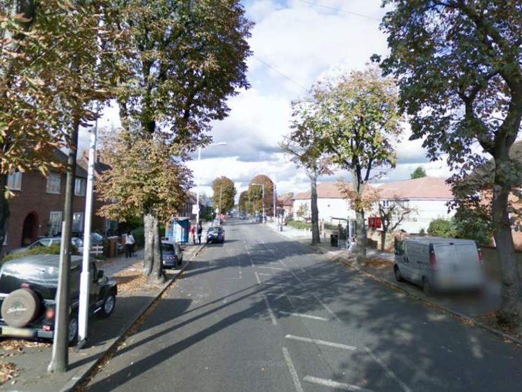 The attack happened in Lodge Avenue, Dagenham. Pic: Google Street View